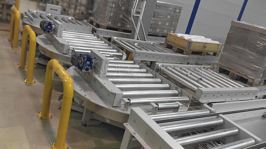 Transport system for EUR pallets