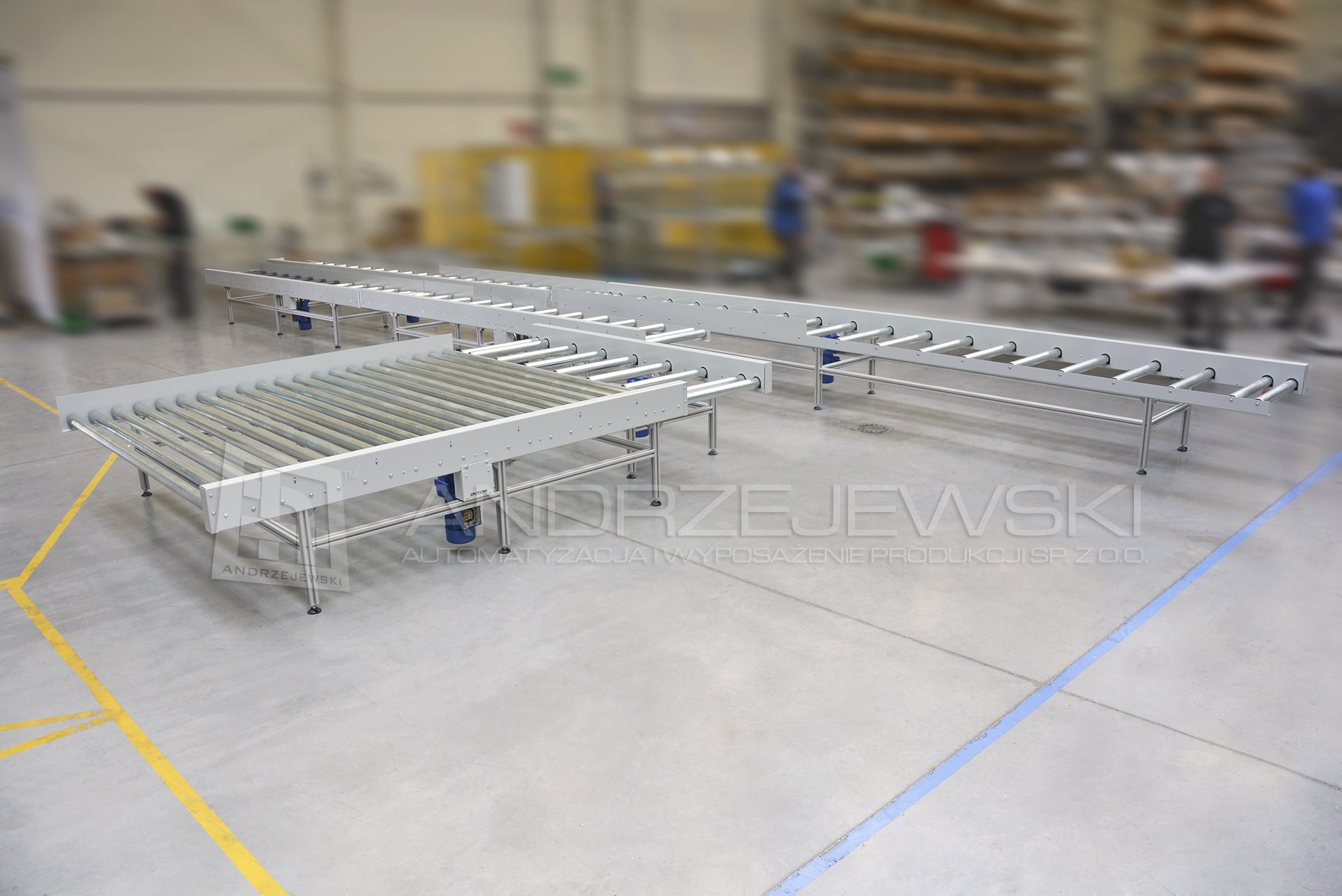 2. Gravity roller conveyors