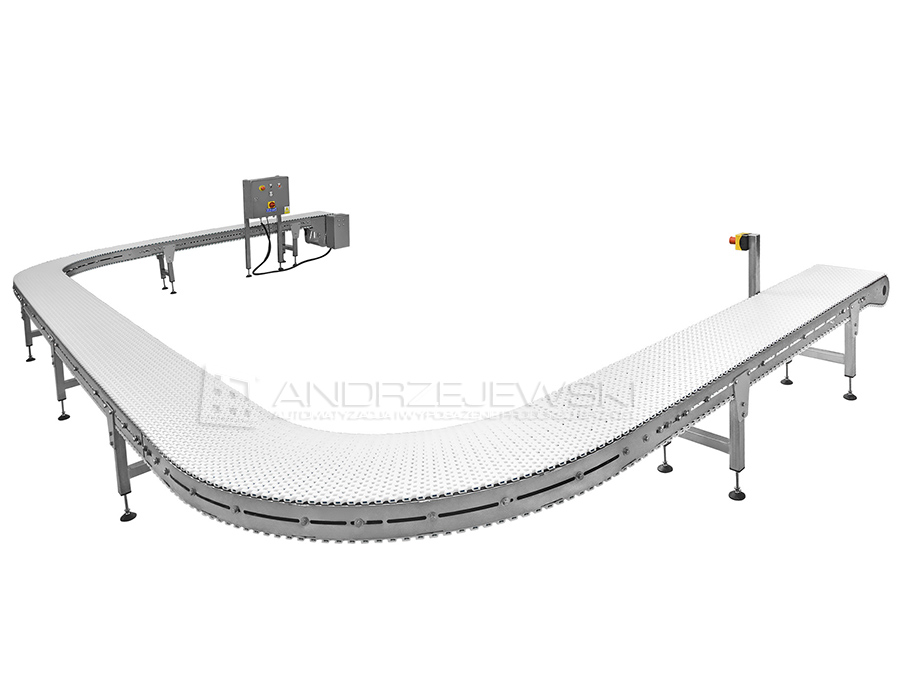 Chain conveyor made of stainless steel