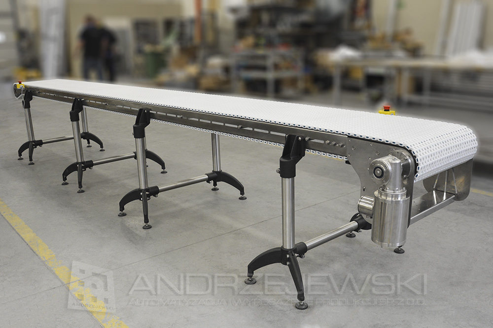 Chain conveyor EMBS 510 made of stainless steel
