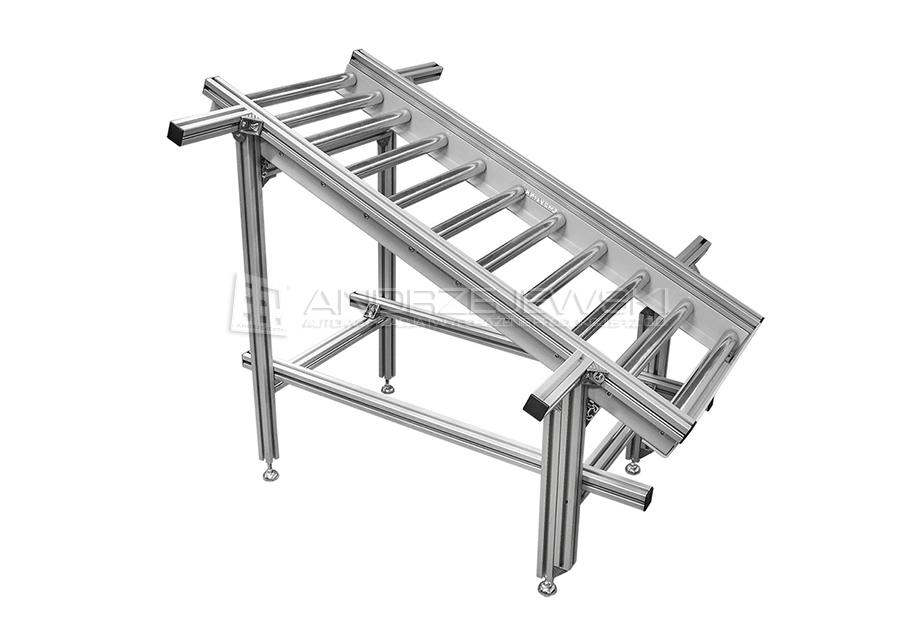 17. Slanting roller conveyor