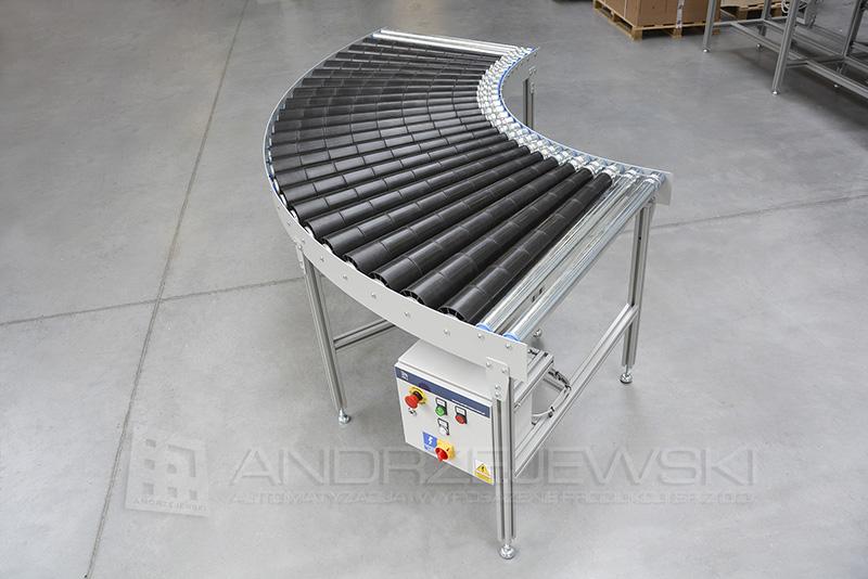 Driven roller conveyor bend