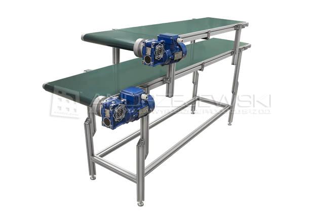 Two-level belt conveyor