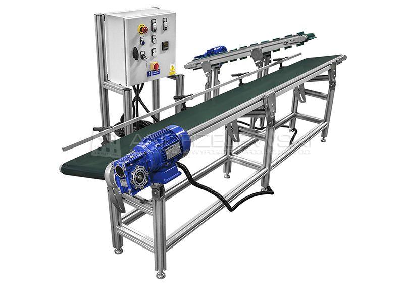 Set of belt conveyors