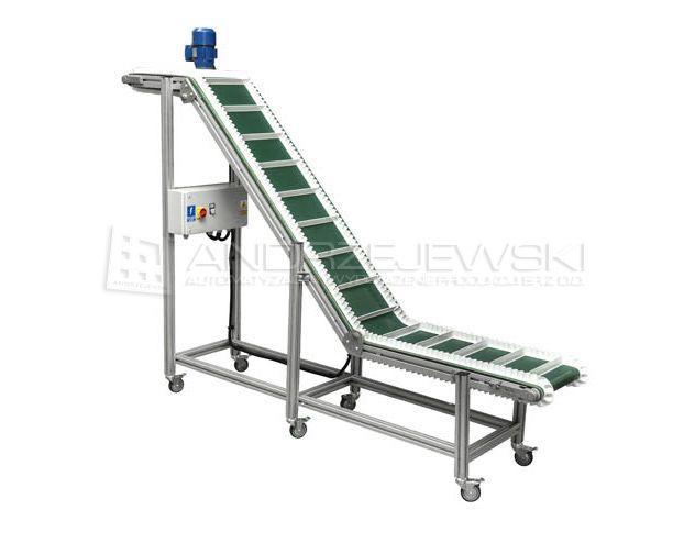 Z-type belt conveyor with collectors